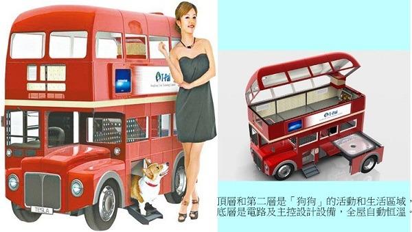 双层巴士智能狗屋 全自动打点 | 台湾动物新闻网