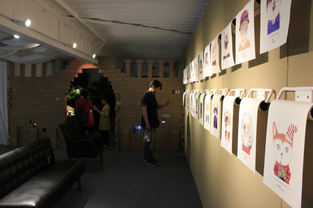 李允榕預計將為大稻埕量身繪製並展出50餘幅不同職業的貓咪。台灣動物新聞網資料畫面