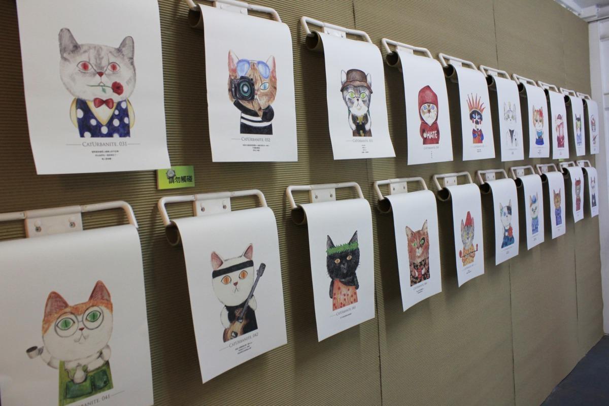 4/14插畫家李允榕將免費帶領9歲以上兒童一同於古厝創作貓咪立體明信片。台灣動物新聞網資料畫面