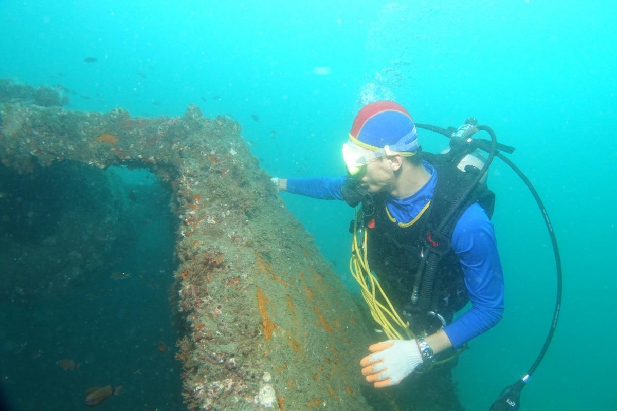 高科大團隊於澎湖海域進行海洋生態資源研究。國立高雄科技大學/提供
