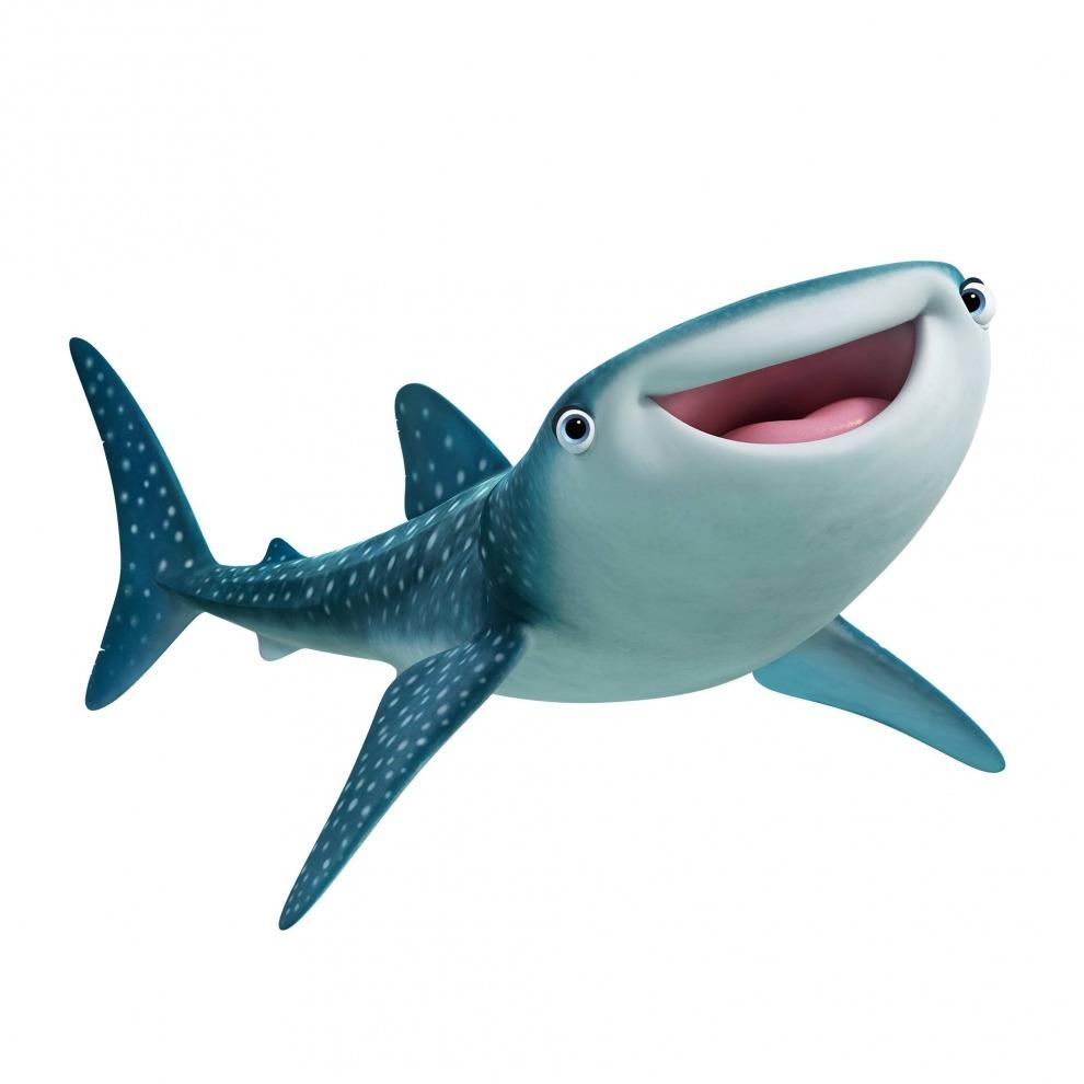 《海底总动员2》中的鲸鲨黛丝特妮一脸微笑.