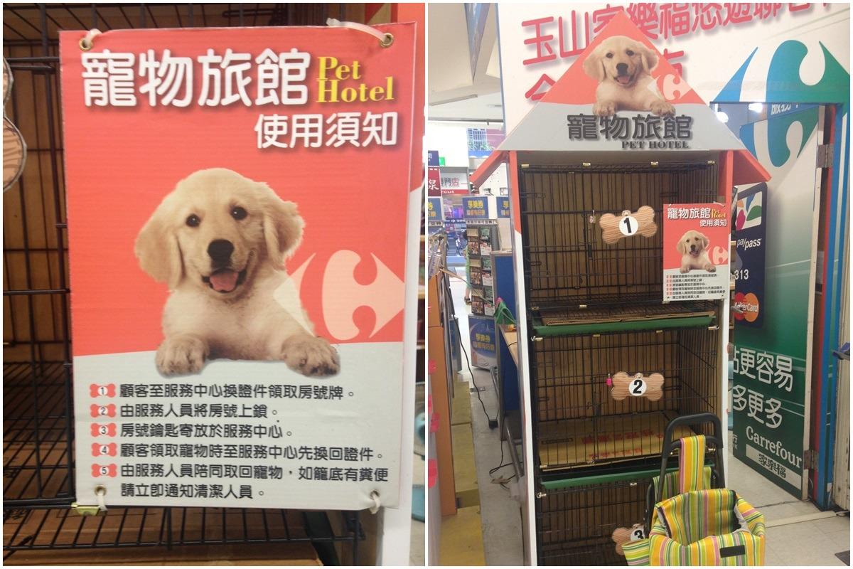 家樂福的寵物寄放服務僅能寄放中小型犬。 台灣動物新聞網資料照(何宜/攝)