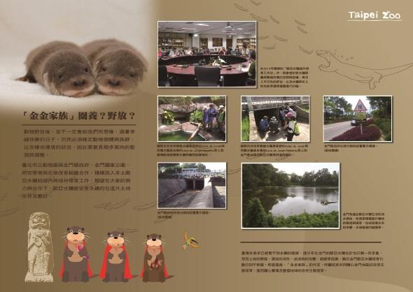 為了讓大小朋友更加認識珍貴稀有的歐亞水獺,台北市立動物園與文山區公所將於文山公民會館合辦「水獺甲霸力-歐亞水獺保育海報展」。台北市立動物園/提供